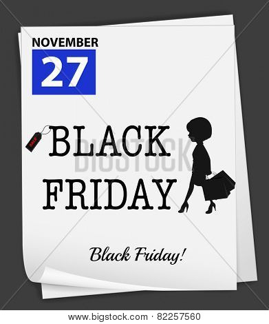 Illustration of november 27 is a black friday