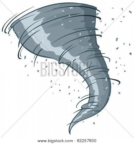 Illustration of a close up tornado