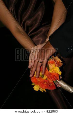 Interracial Wedding Rings Close-up