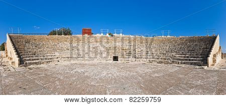 Ancient Greco-roman Theater In Kourion, Cyprus
