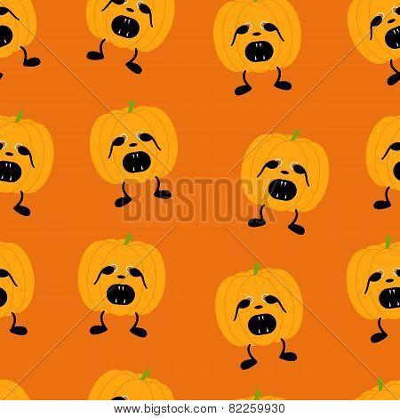Pumpkin In Fear Pattern