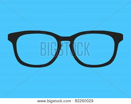 classic black frame glasses. vector drawing, EPS format