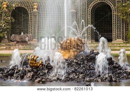 Encelada Fountain In Gardens Of Versailles Palace