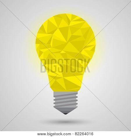 yellow idea bulb, imagine concept