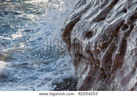 The Waves Run Over Ashore