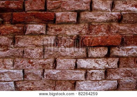 detail of the old brick wall