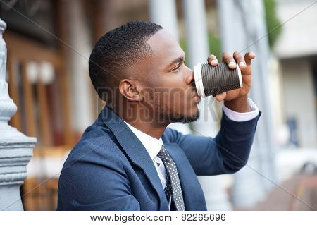Businessman Relaxing With A Cup Of Coffee During A Break