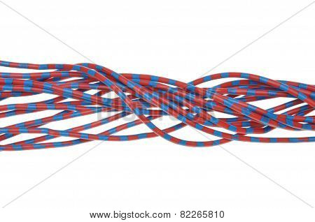 Cables isolated on white background