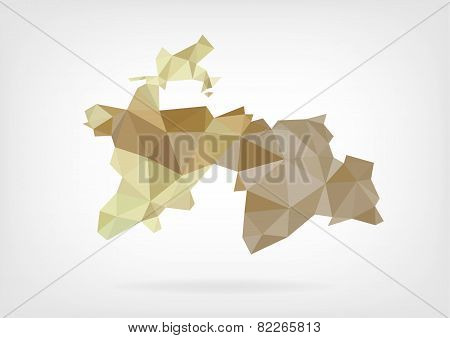 Low Poly map of Tajikistan