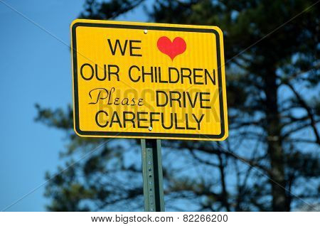Warning Sign Children in the area