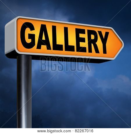 gallery wall of picture photo and image and art exhibition