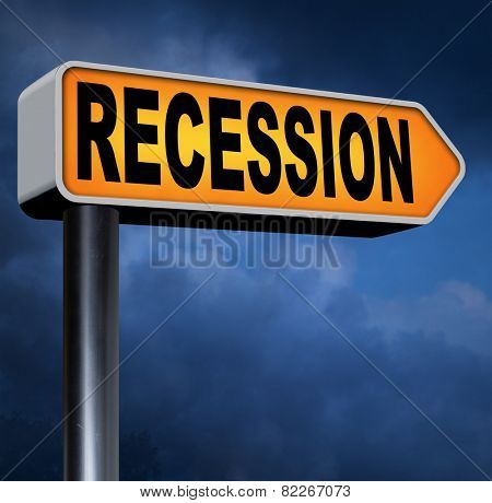 recession economic market crash global bank and stock market crisis