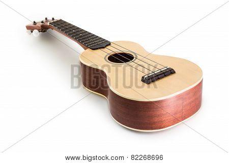 Ukulele Guitar Isolated On White Clipping Path Included