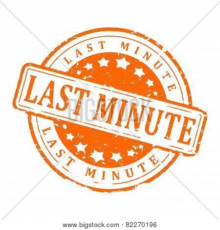 Orange Stamp - Last Minute