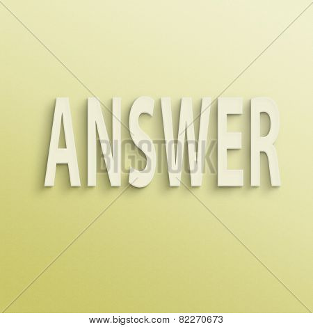 text on the wall or paper, answer
