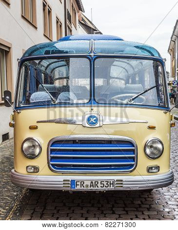 Old Vintage Bus Setra S6 In Freiburg