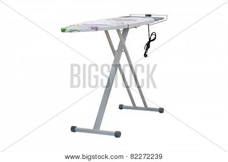 ironing-board under the white background