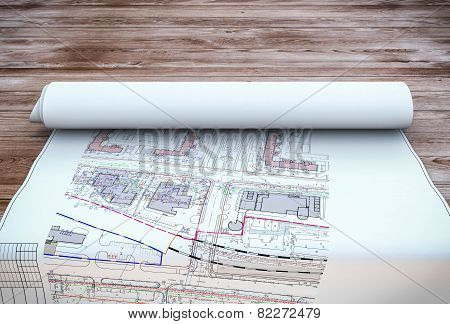 Blueprint Plan On Table