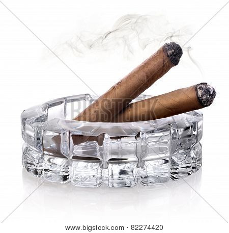 Cigars in ashtray