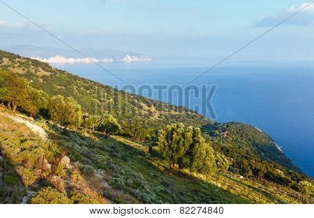 Summer Morning Sea View (Greece,  Kefalonia).