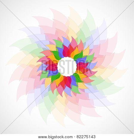 Abstract colorful transparent background.