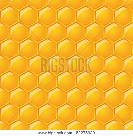 vector seamless pattern with glossy honeycombs