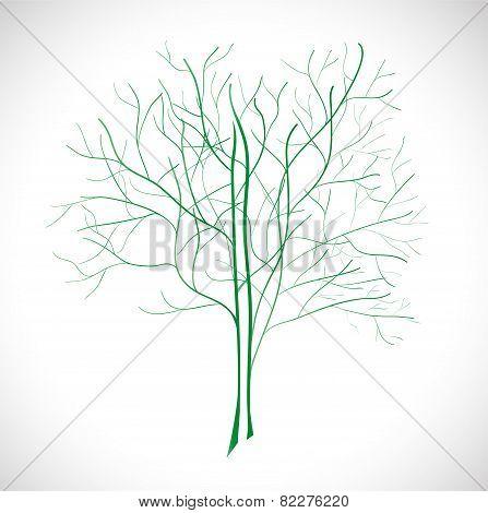 Abstract green tree.