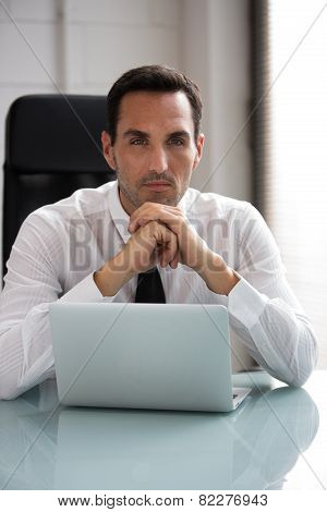 male businessman working