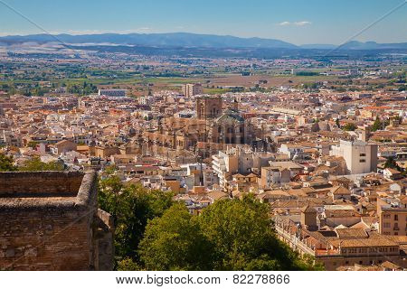 View On Granada From Alhambra
