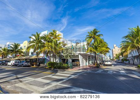 Day View At Ocean Drive In Miami