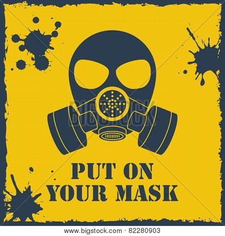 Vector put on your biohazard mask