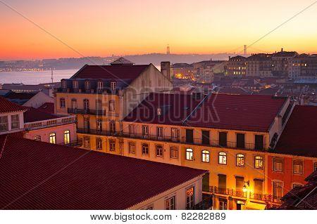 Alfama At Sunset, Lisbon