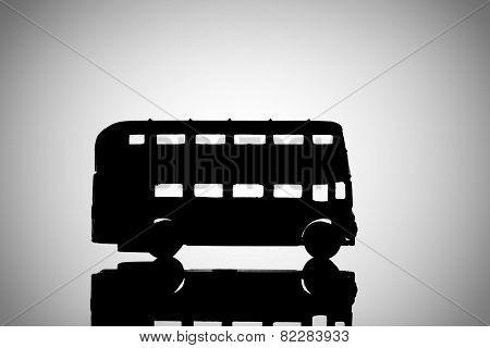 Silhouette Double Decker bus