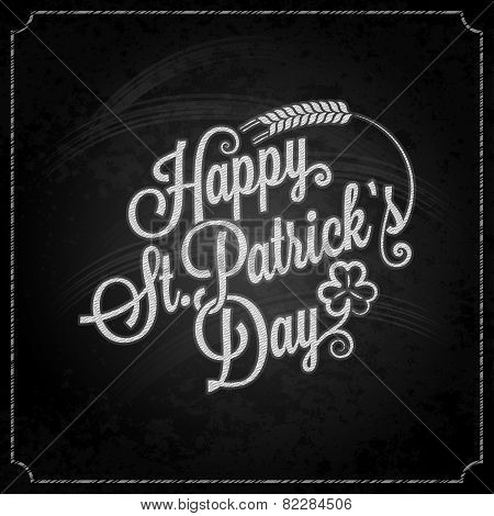 Patrick day vintage chalk background
