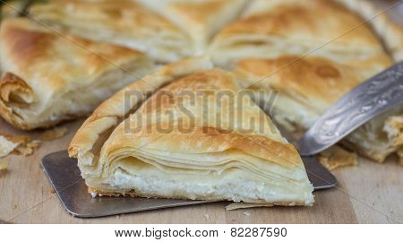 Tiropita - Greek pie made of Filo dough with cheese