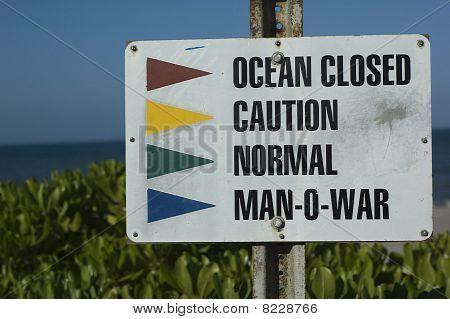 Sign at Beach