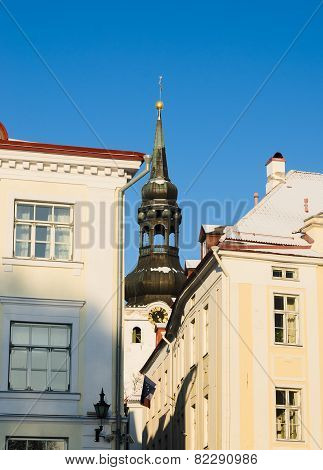View Of The Spire Of The Dome Church In Tallinn