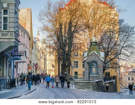 Streets And Old Town Architecture Estonian Capital