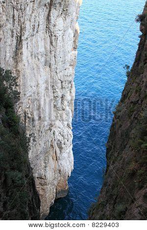 Broken mountain in Gaeta (Italy)