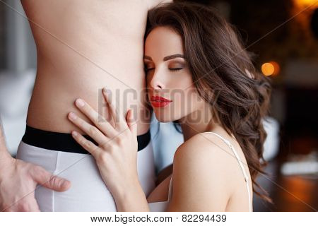 Sexy Woman With Young Lover