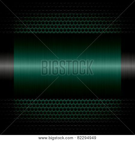 teal steel metal texture with holes metal background