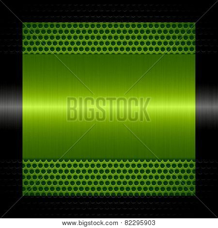 green steel metal texture with holes metal background