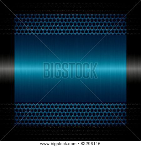 blue steel metal texture with holes metal background