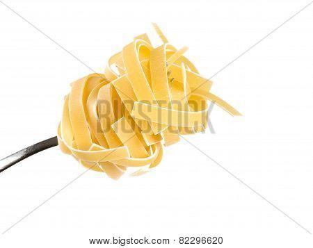 Linguini Pasta On A Fork