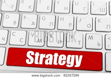 Close up of Strategy keyboard button