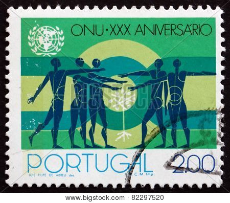 Postage Stamp Portugal 1975 People And Sapling