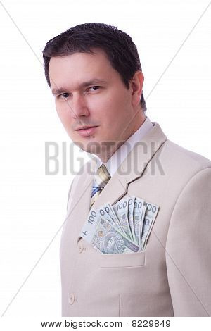 Businessman With Full Pocket