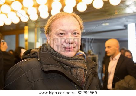 MOSCOW - JANUARY, 28: Actor Sergei Bachursky. Premiere of the movie Leviathan at Moscow Cinema,  January, 28, 2015 in Moscow, Russia