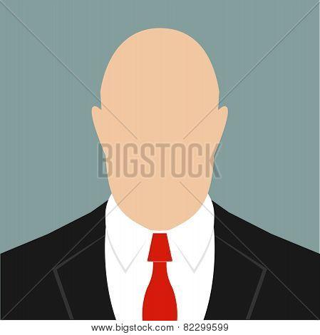 businessman in a red tie