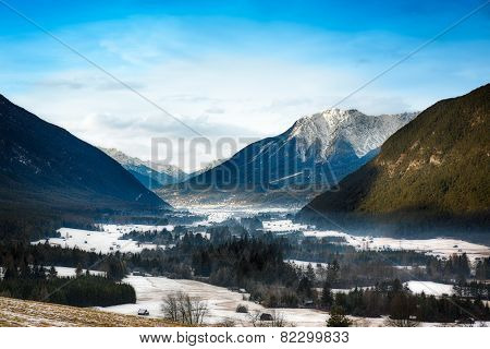 Wintery valley in Tirol, Austrian Alps